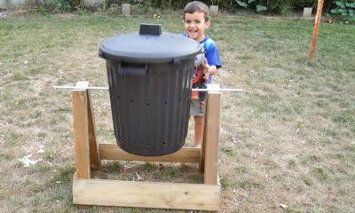Comment fabriquer un composteur rotatif ?