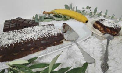 Moelleux au chocolat et aux bananes sans gluten et sans sucre raffiné