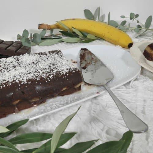 Moelleux au chocolat et aux bananes