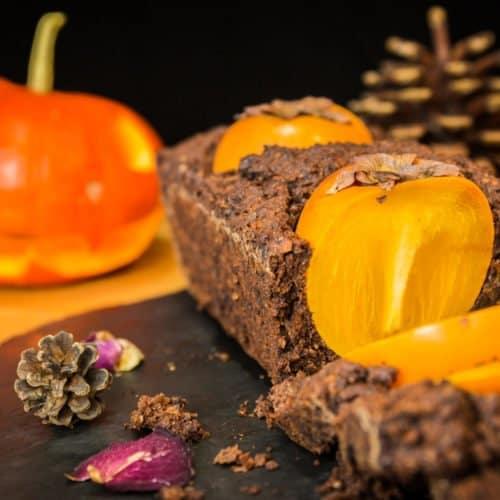 Gâteau au chocolat et au Kaki sans gluten