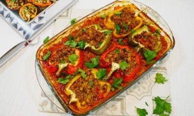 Idée dîner : Poivrons farcis au quinoa de Salma Hage
