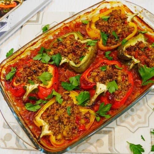 Poivrons farcis au quinoa de Salma Hage