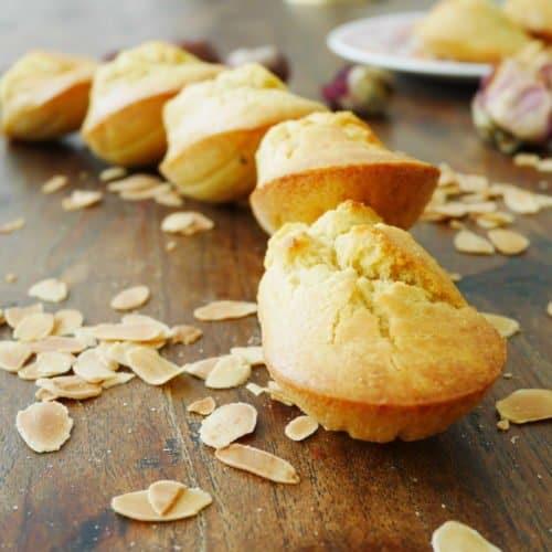 Madeleine sans gluten et sans sucre raffiné