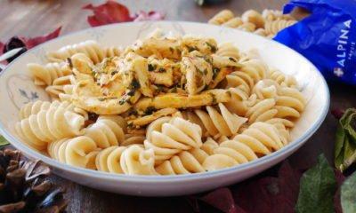 Idée dîner : pâtes au blé complet et poulet au safran