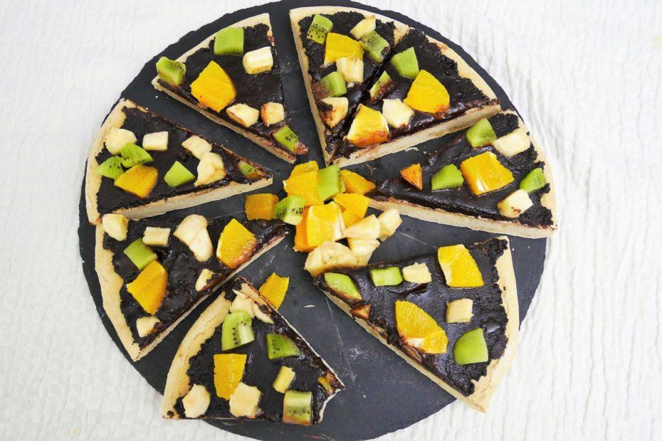 recette vegan pizza au chocolat