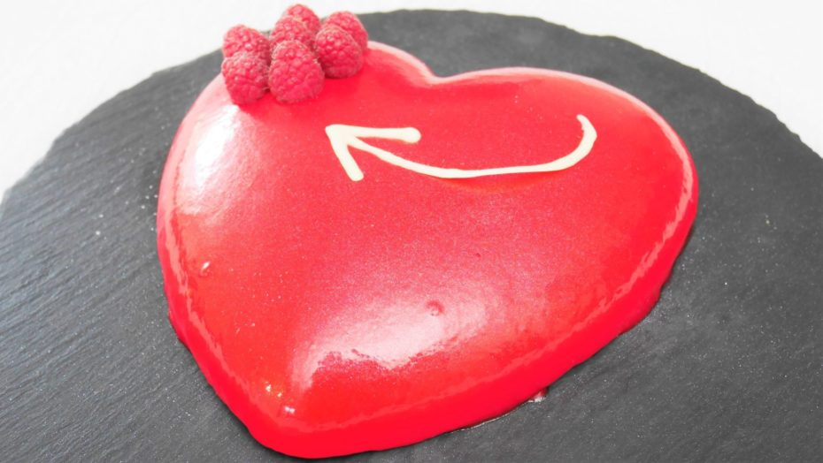 Gâteau pour la st valentin