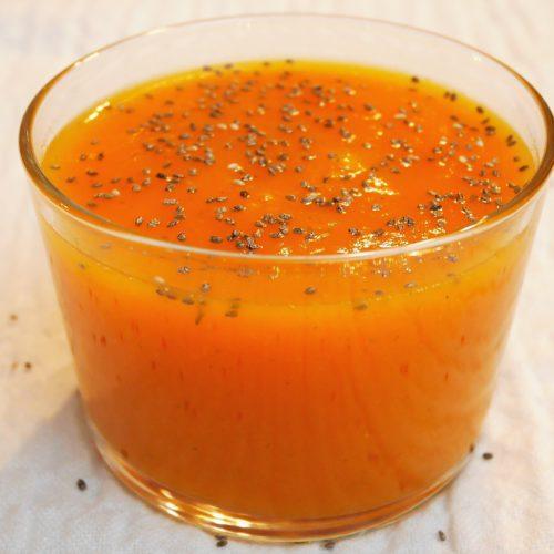 Soupe de patates douces et au gingembre frais