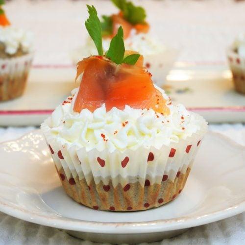 Cupcakes au saumon fumé et fromage frais