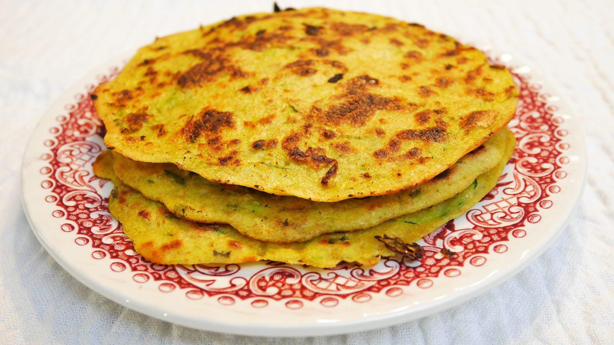 pancakes coréens aux légumes pajéon