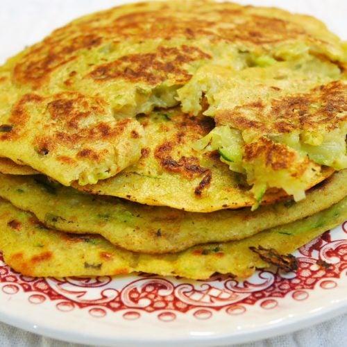 Pancakes coréens aux légumes