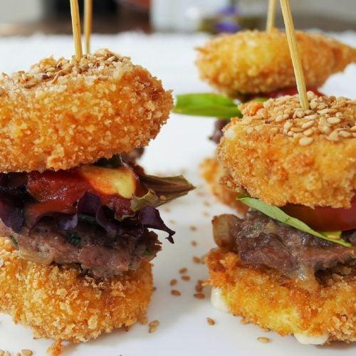 Mini-burgers babybel