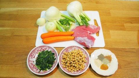 Recette marocaine Tajine de vaux aux légumes