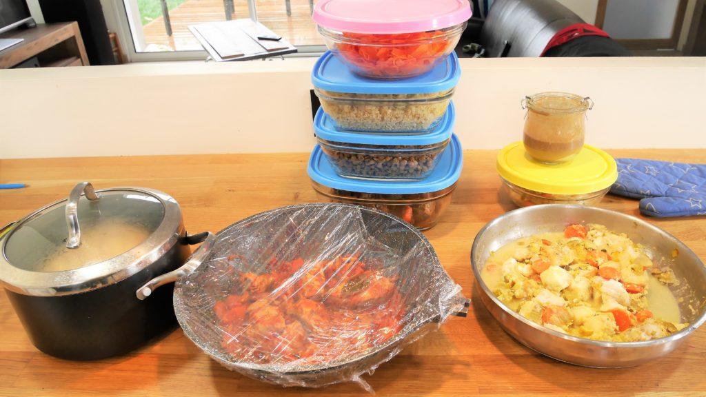 Le repas pour toute la semaine est prêt