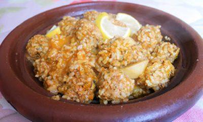 Tajine de boulettes de sardine au riz