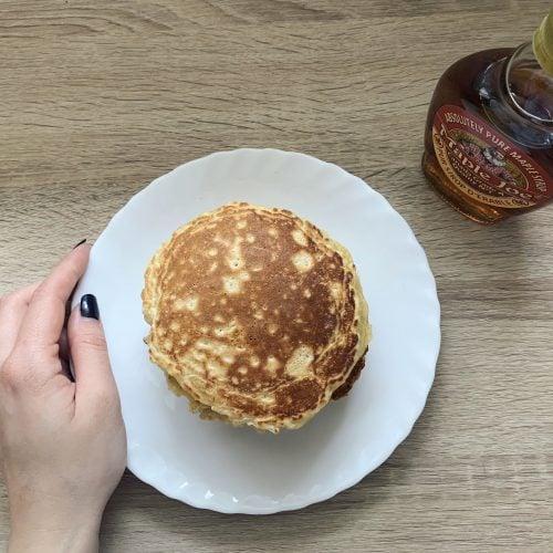 Pancakes aux flocons d'avoine et au lait de soja
