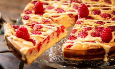 Tarte framboise chocolat blanc – Recette du livre les tartes au blender de Guillaume Marinette