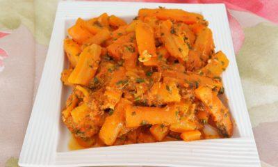 Recette de carottes à la marocaine