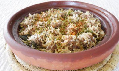 Tajine de boulettes de viande au riz – Recette du livre ma cuisine marocaine