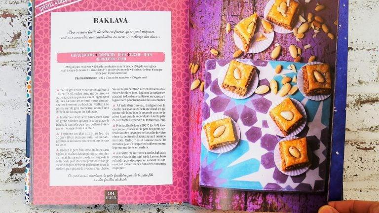 Recette de Baklava du livre de Bouchra Atita du blog Ma fleur d'oranger