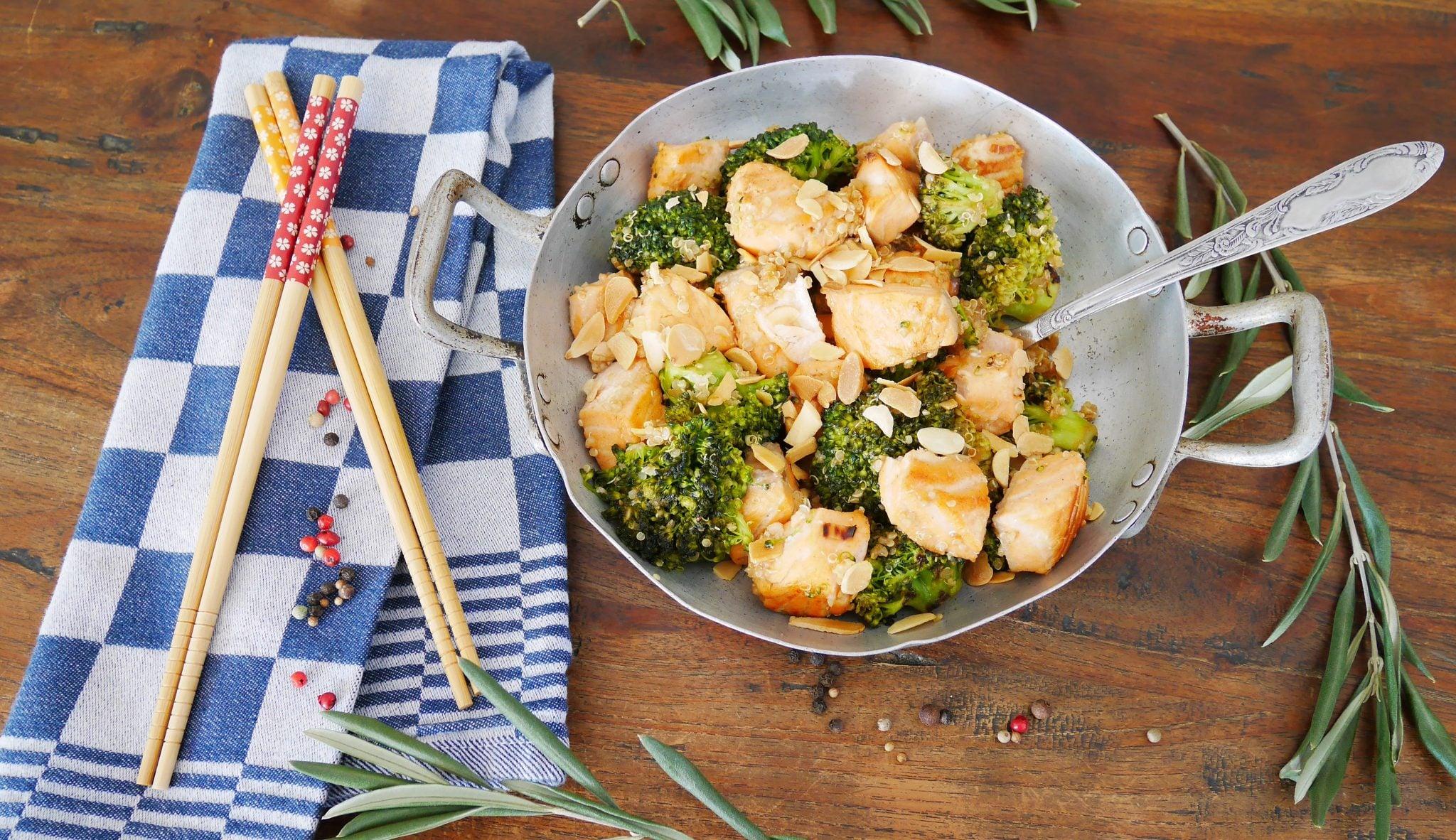 Wok saumon recette du livre de audrey le goff