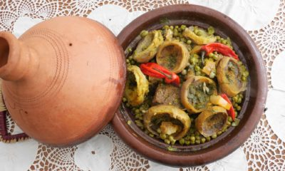 Tajine aux petits pois et artichauts – Recette du livre ma cuisine marocaine