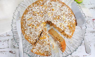 Tarte noix de coco et zeste d'orange – Recette du livre les tartes au blender de Guillaume Marinette