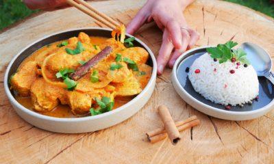 Massala de poulet – Recette du livre Wok de Audrey Le Goff