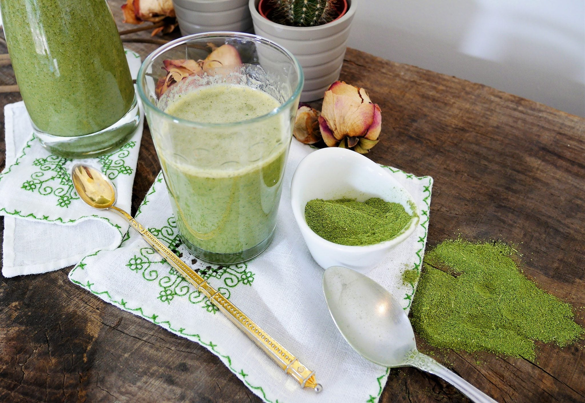 smoothie banane et poudre de moringa