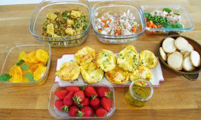 Batch cooking partie 2 : En 1 heure, je cuisine mes lunchs box pour toute la semaine