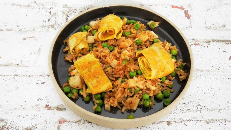Riz cantonais Muffins salées Sablé à la cannelle du livre En 1 h je cuisine mes Lunch box pour toute la semaine