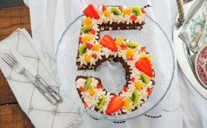 Number cake fruits de saison