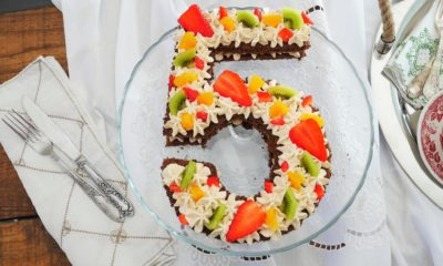 Number cake chocolat et fruits de saison