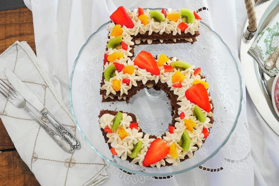 Number cake fruits de saison