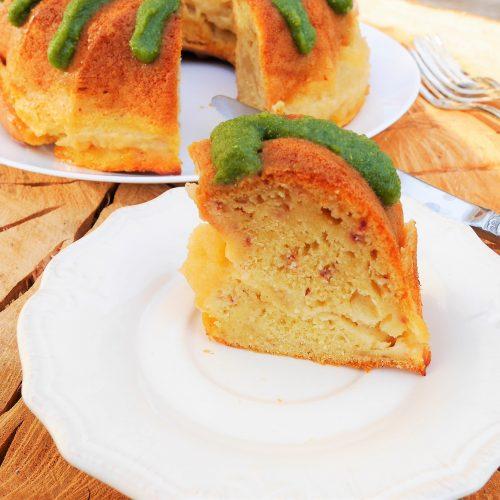 Gâteau au yaourt sans sucre à la poudre de moringa