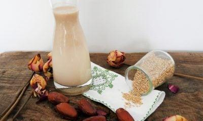 Boisson végétale aux graines de sésame vanillée – Recette du livre Mes petites recettes magiques Cétogènes et hypotoxiques