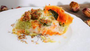 Tarte aux légumes avec des feuilles de brick