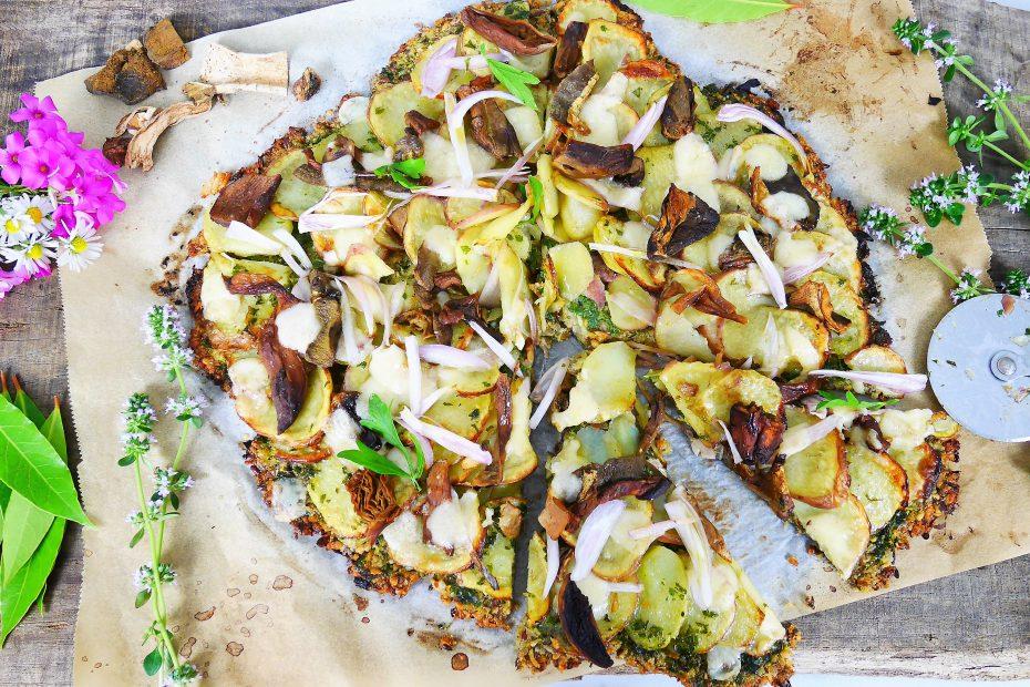 Pizza aux légumes sans farine