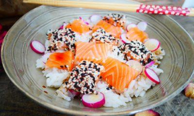 Comment faire un Chirashi au saumon super facile