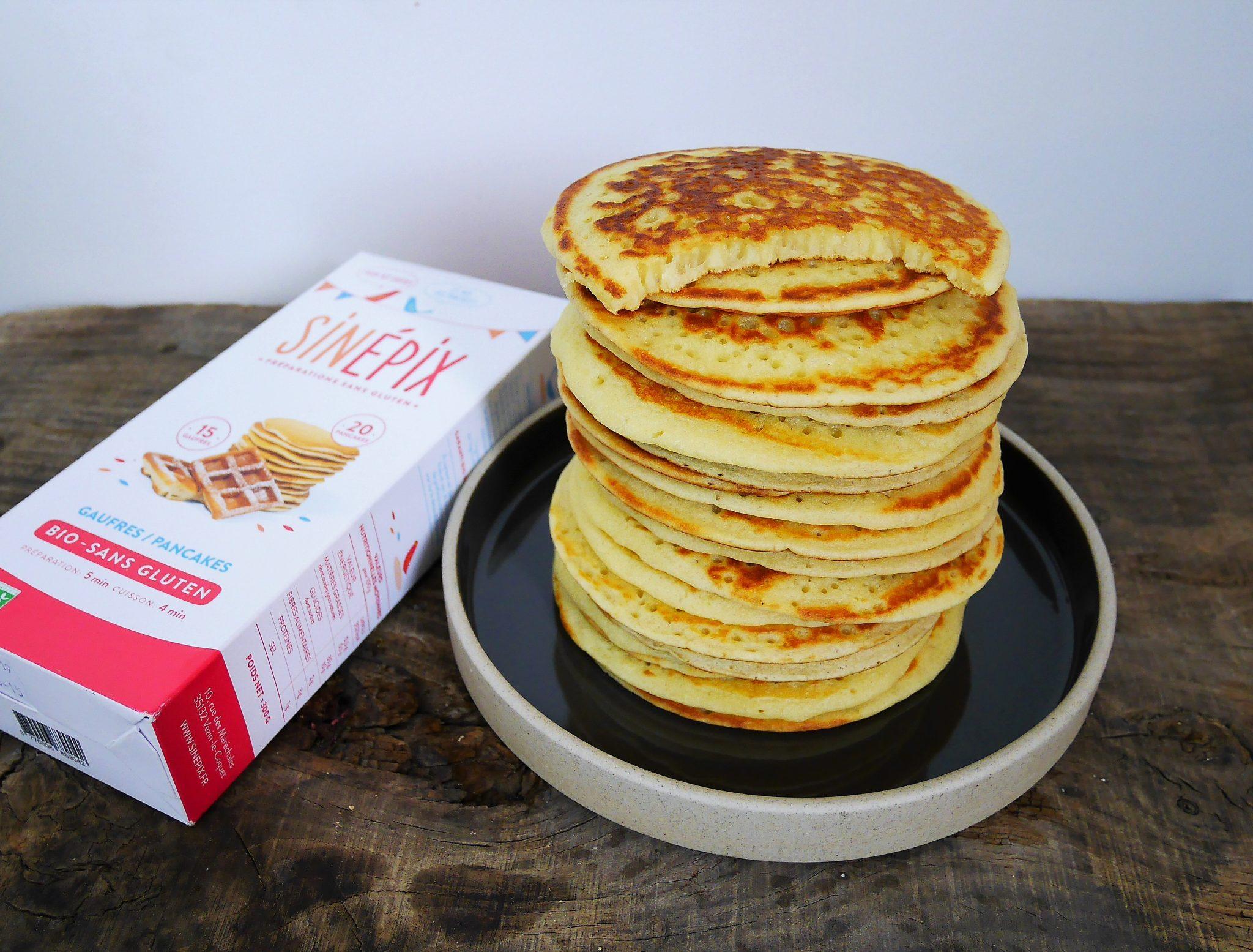 Sinépix préparation gaufres et pancakes sans gluten