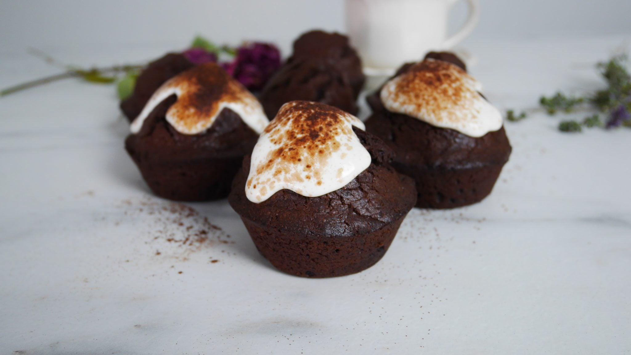 Muffins au chocolat sans sucre
