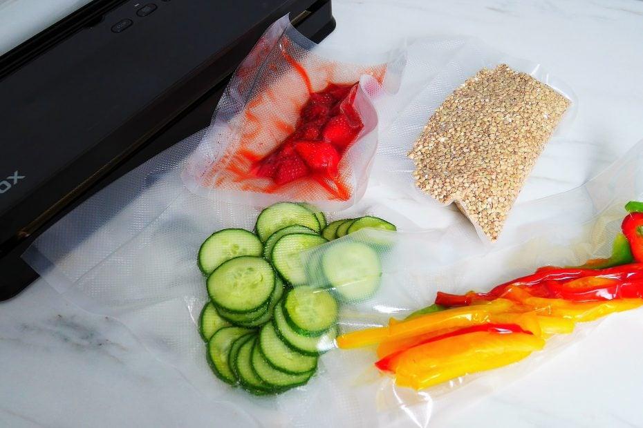 Fruits et légumes mis sous vide