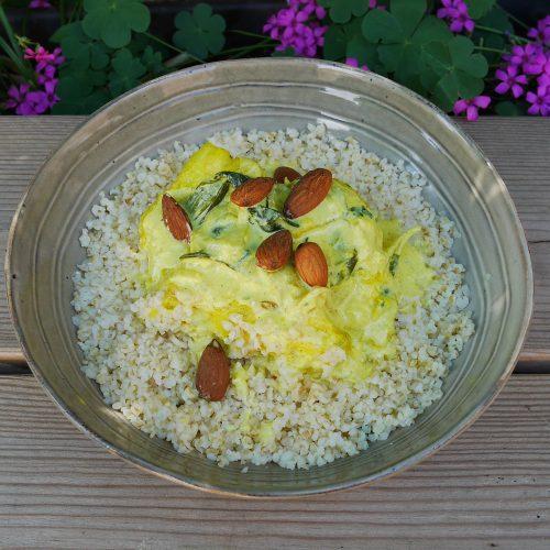 Curry de poisson au boulgour