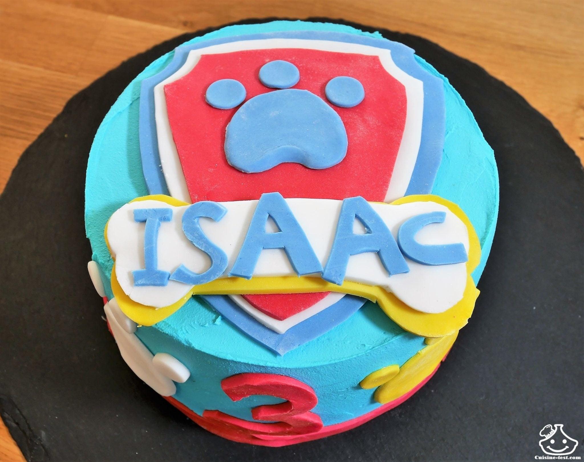 Gâteau anniversaire Pat' Patrouille