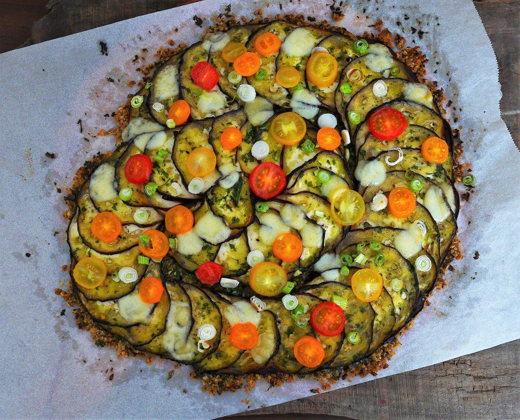 Tarte aux aubergine sans gluten
