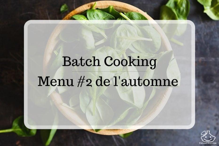 Batch cooking avec légumes et fruits de saison