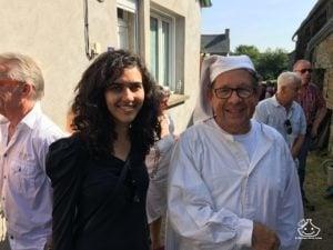 Avec Jean-Paule Martinet, le fondateur de la fête à Plouguenast