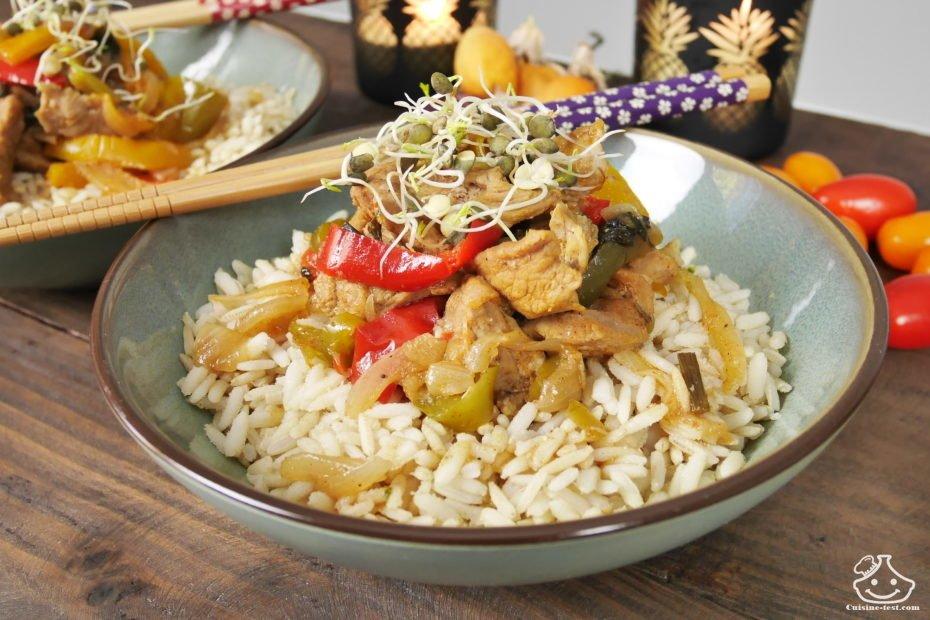 Idée de recette pour le soir, émincé de vaux au riz