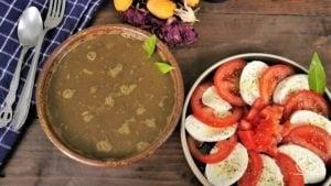 Menu de batch cooking, soupe de lentille