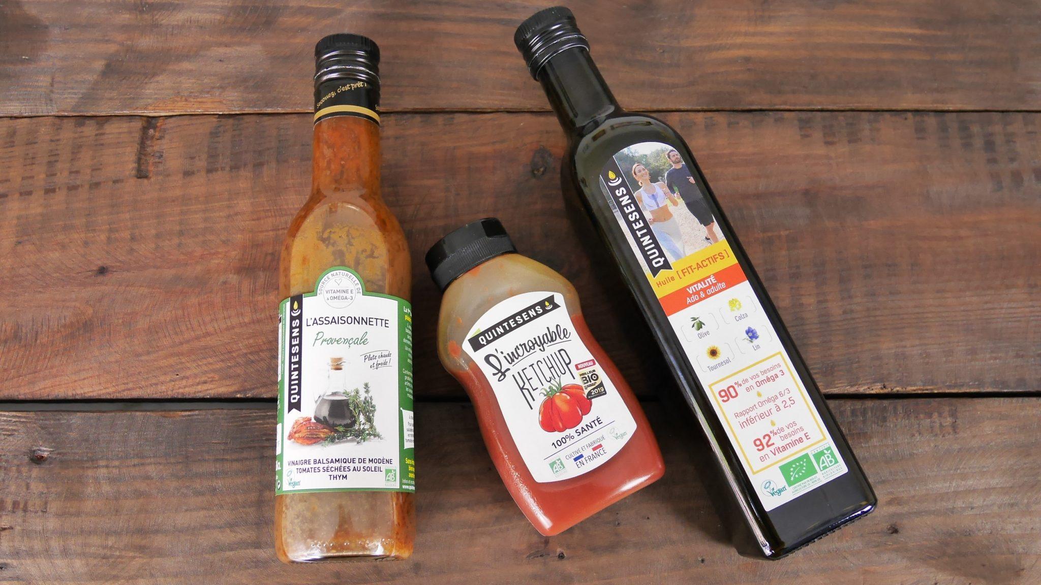 Quintesens Huile santé et l'incroyable ketchup