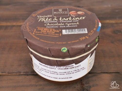 Découverte : Pâte à tartiner Noisettes chocolat noir de BOVETTI Chocolatier